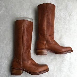 Frye Womens Campus SDL Brown Boots Size 7 1/2